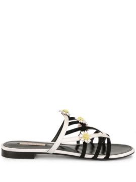 Daisy Applique Sandals - Fabrizio Viti
