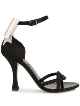 Satin Bow Sandals - Fabrizio Viti
