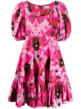 Abstract Floral Print Dress - Alexander Mcqueen