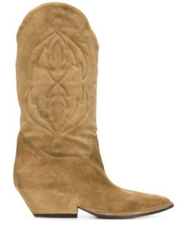 Stitched-pattern Cowboy Boots - Del Carlo