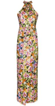 Alyona Tropical Floral Print Dress - Borgo De Nor