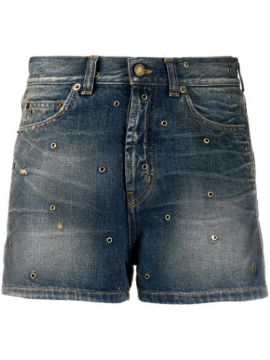 Eyelets Denim Short - Saint Laurent