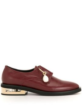 Pendant Detail Low-heel Loafers - Coliac