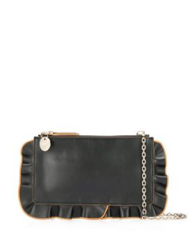 Red(v) Rock Ruffles Chain Clutch - Red Valentino