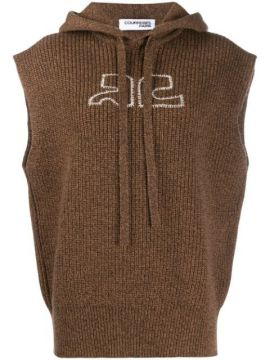 Sleeveless Knitted Hoodie - Courrèges