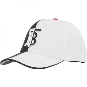 Monogram Motif Two-tone Cotton Baseball Cap - Burberry