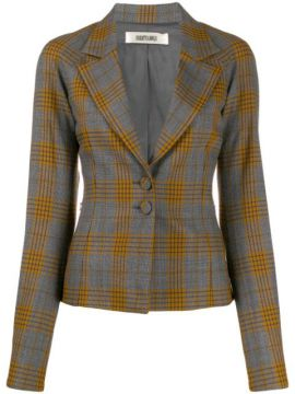 Plaid Print Blazer - Charlotte Knowles