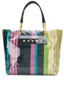 Glossy Grip Striped Tote - Marni