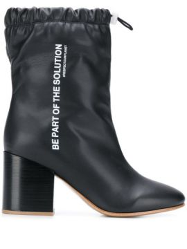 Drawstring Ankle Boots - Fwd