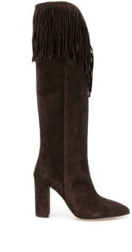 Fringed Suede Boots - Paris Texas