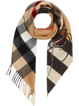 Unicorn Motif Check Bandana - Burberry
