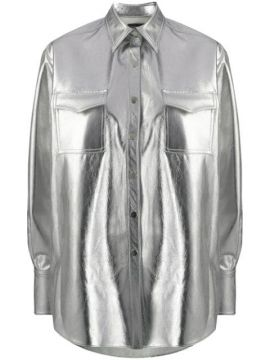 Oversized Metallic Shirt - David Koma