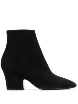Curved Heel 75mm Ankle Boots - Salvatore Ferragamo