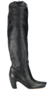 Brushed Leather Almond Boots - Lanvin