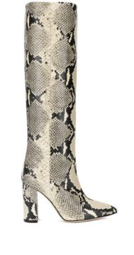 Python Print Knee-high Boots - Paris Texas