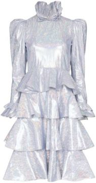 Confection Metallic Tiered Dress - Batsheva