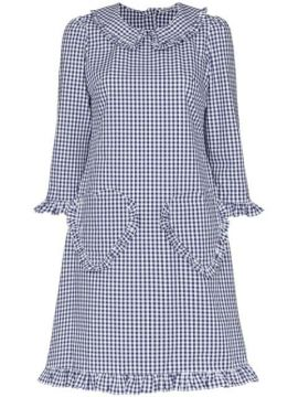 Heart Pocket Gingham Print Dress - Batsheva