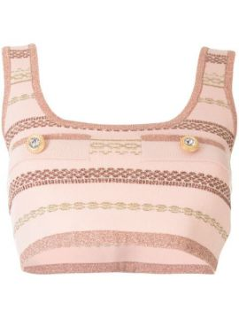 Striped Crop Top - Alice Mccall