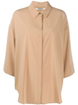 Oversized Cropped Sleeves Shirt - Chalayan
