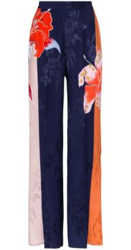 Floral Printed Wide Leg Palazzo Trousers - Etro
