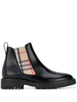 Vintage Check Chelsea Boots - Burberry