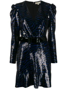Zebra Sequin Mini Dress - Michael Michael Kors