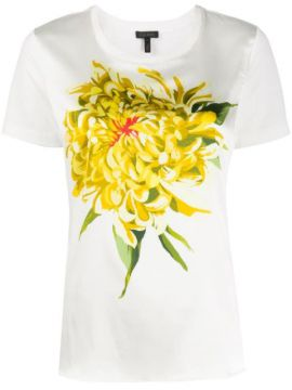 Floral Print Slim-fit T-shirt - Escada
