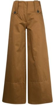 Wide Leg High-waisted Trousers - Delada