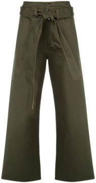 High-waisted Belted Trousers - Delada