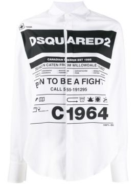 Graphic Print Shirt - Dsquared2