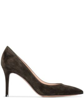 85mm Suede Point-toe Pumps - Gianvito Rossi