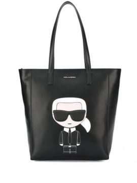 Logo Patch Shopper Tote Bag - Karl Lagerfeld