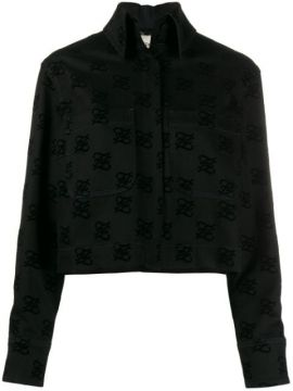Logo Print Back-bow Denim Jacket - Fendi