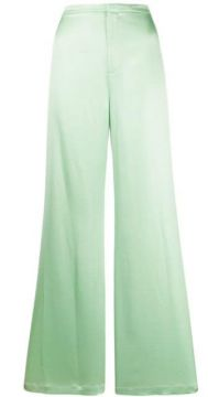 Shine Wash And Go Satin Wide Leg Trousers - T By Alexander W
