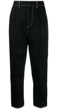 Buckled Detail Straight Trousers - Alexander Mcqueen