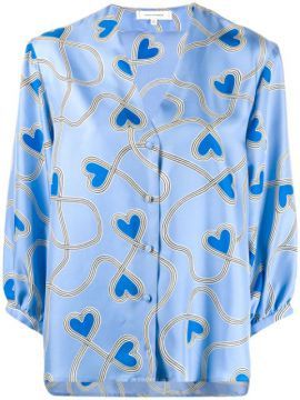 Heart Print Blouse - Chinti & Parker