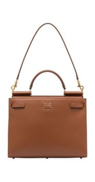 Sicily 62 Large Leather Tote Bag - Dolce & Gabbana