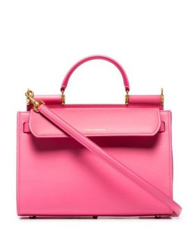 Pink Sicily 62 Large Leather Tote Bag - Dolce & Gabbana
