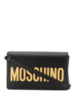 Logo Flap Shoulder Bag - Moschino