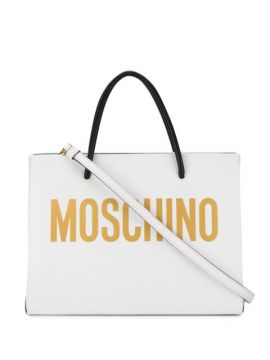Square Logo Print Tote Bag - Moschino