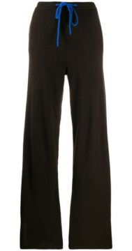 Knitted Contrast-trim Jogger Trousers - Chinti & Parker