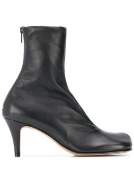 Heeled Square-toe Ankle Boots - Bottega Veneta