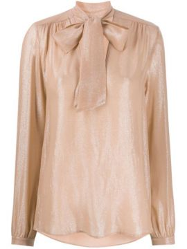 Shimmery Pussy Bow Blouse - Antonelli