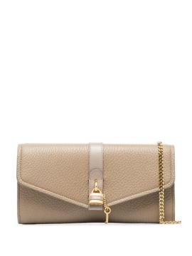 Grey Aby Leather Clutch Bag - Chloé