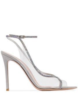 Plexi 115mm Crystal-embellished Sandals - Gianvito Rossi