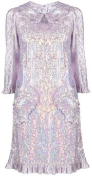 Brocade Embroidery Mini Dress - Batsheva