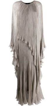 Crinkled Cape-effect Gown - Irina Schrotter