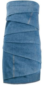 Layered Denim Mini Dress - Philosophy Di Lorenzo Serafini