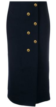 4g Buttons Fitted Skirt - Givenchy