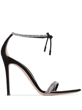 Crystal Strap 115mm Sandals - Gianvito Rossi